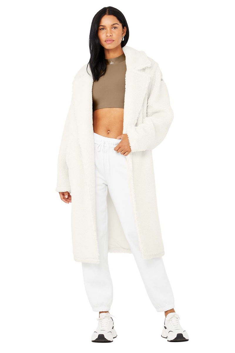 Alo Sherpa Trench in Ivory $298