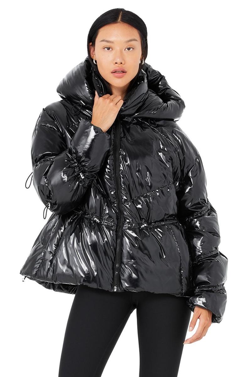 Alo Stunner Puffer Jacket in Black $498