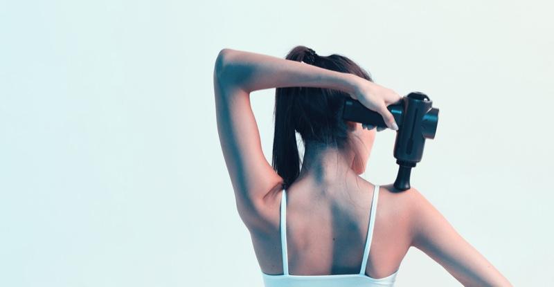 Back Woman Massaging Back