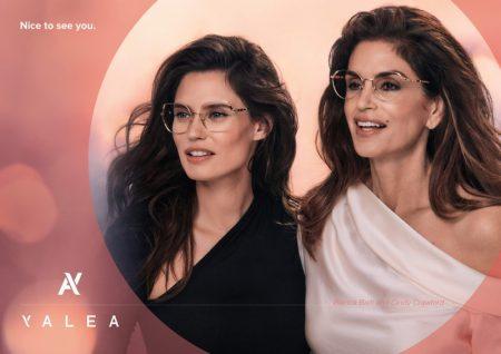 Bianca Balti and Cindy Crawford star in Yalea Eyewear fall-winter 2021 campaign.