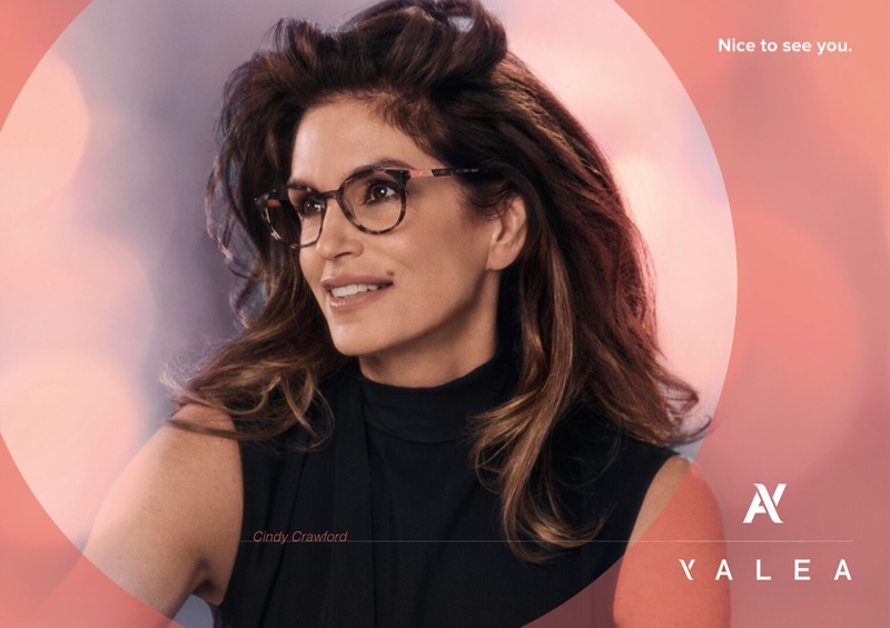 Supermodel Cindy Crawford is one of the faces of Yalea Eyewear's fall-winter 2021 campaign.