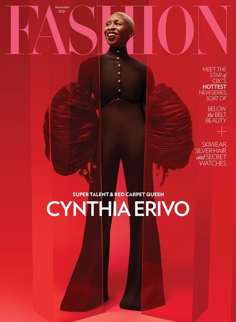Cynthia Erivo on FASHION Magazine November 2021 cover. Photo: Royal Gilbert / FASHION