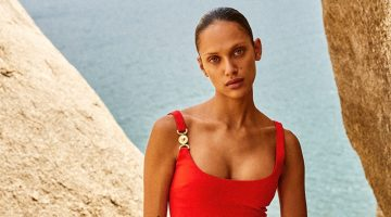 Dalianah Arekion Models All-Red Fashions for Marie Claire Mexico