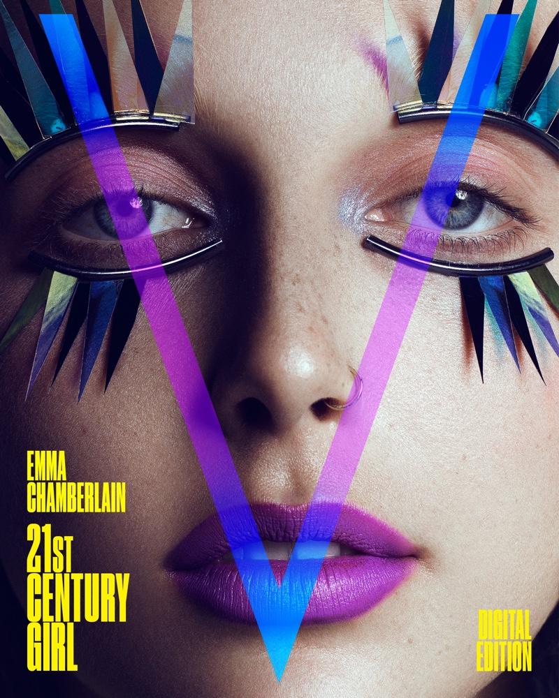 Social media star Emma Chamberlain on V Magazine Digital Cover. Photo: Domen & Van de Velde / Courtesy of V Magazine