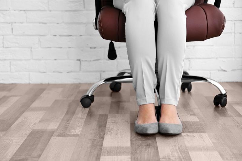 Grey Flats Woman Sitting