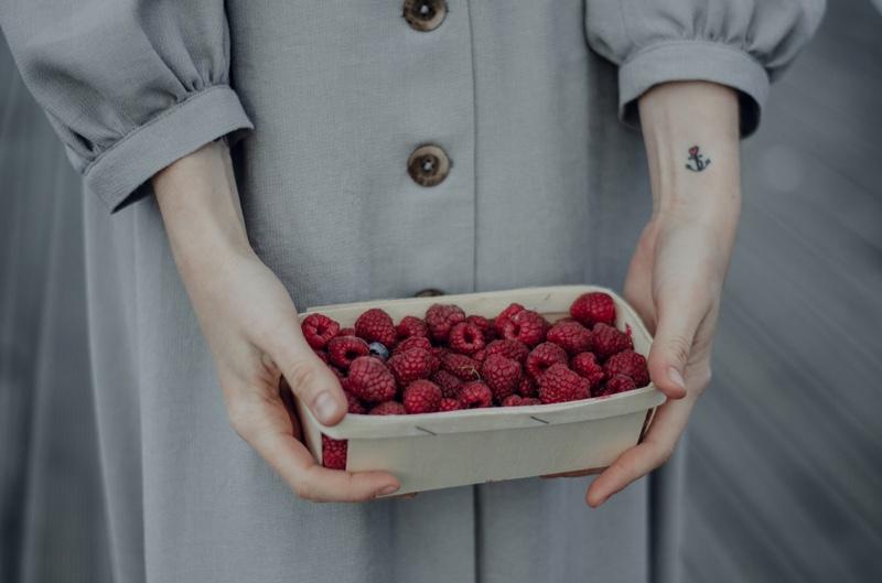 Holding Raspberries Anchor Tattoo Wrist