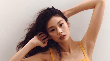 Hoyeon Jung Strips Down in Heron Preston for Calvin Klein Campaign