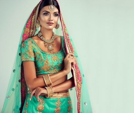 Indian Model Lehenga Style Traditional