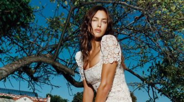 Irina Shayk stars in Self-Portrait resort 2022 campaign.