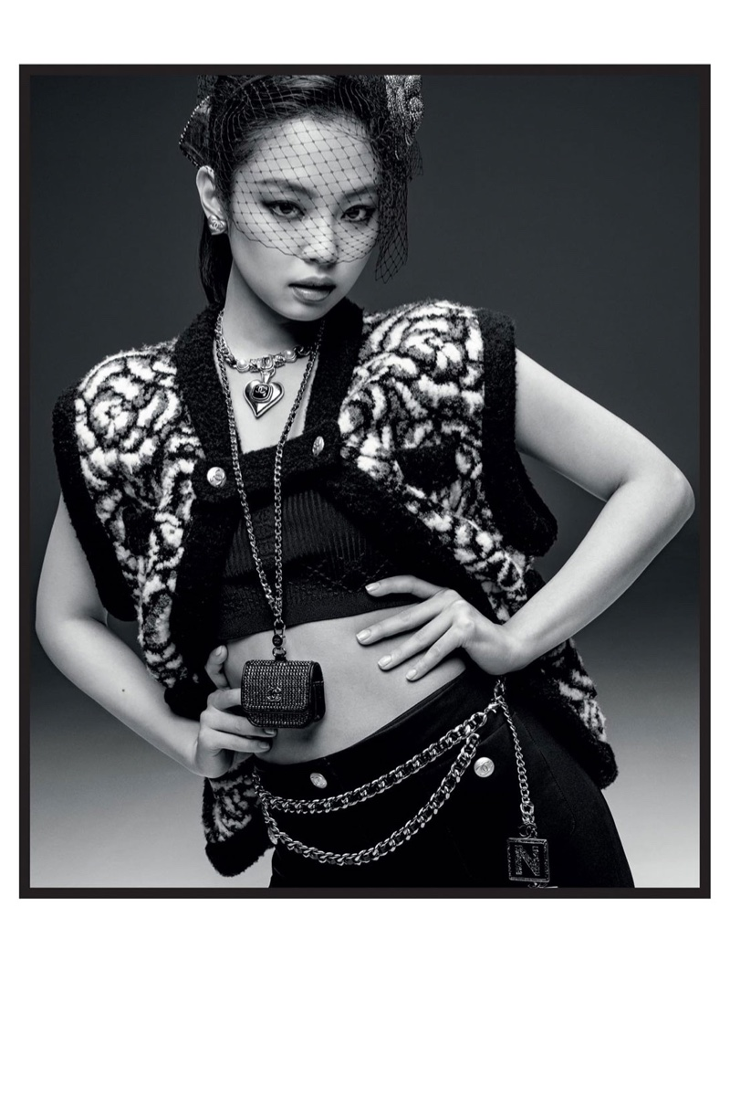 Chanel ambassador Jennie poses for Coco Neige 2021 campaign.