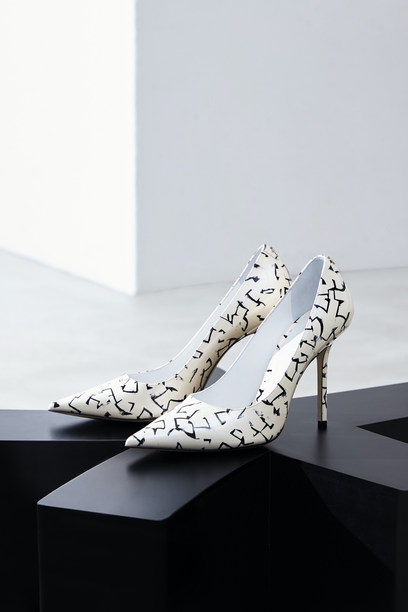 JIMMY CHOO / ERIC HAZE COLLECTION CURATED BY POGGY LOVE stiletto pump.