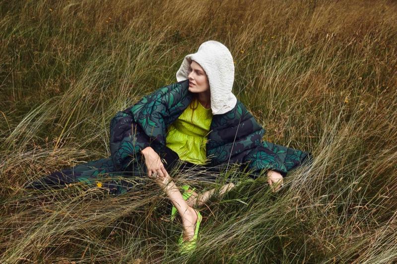 Juliet Ingleby Models Romantic Dresses for InStyle Germany