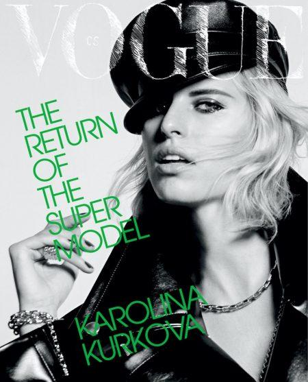 Karolina Kurkova on Vogue Czechoslovakia October 2021 Cover.