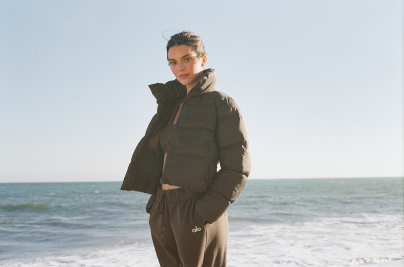 Puffer styles stand out in Alo's latest outerwear campaign.