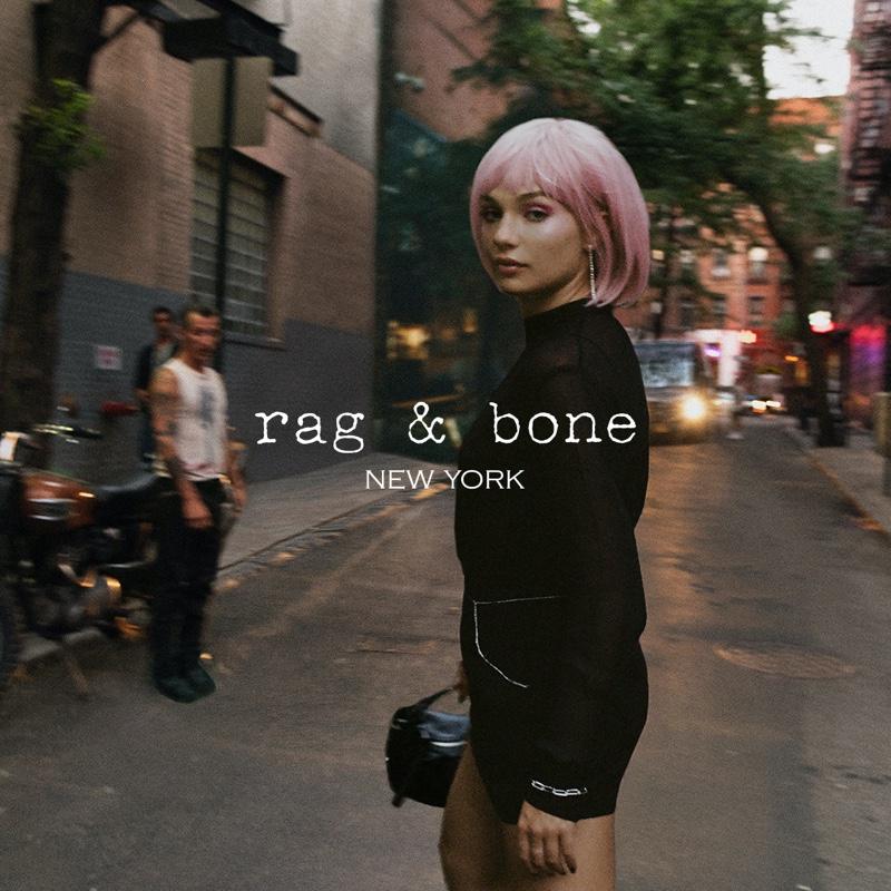 Maddie Ziegler wears pink hair in rag & bone fall 2021 campaign.