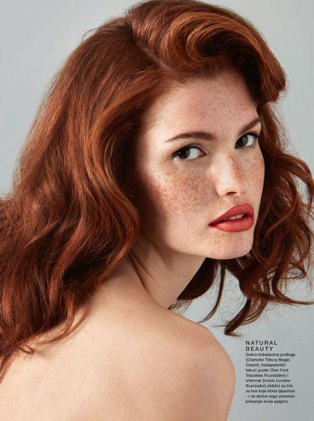 Mariangela Bonanni Models Refreshing Beauty for ELLE Croatia