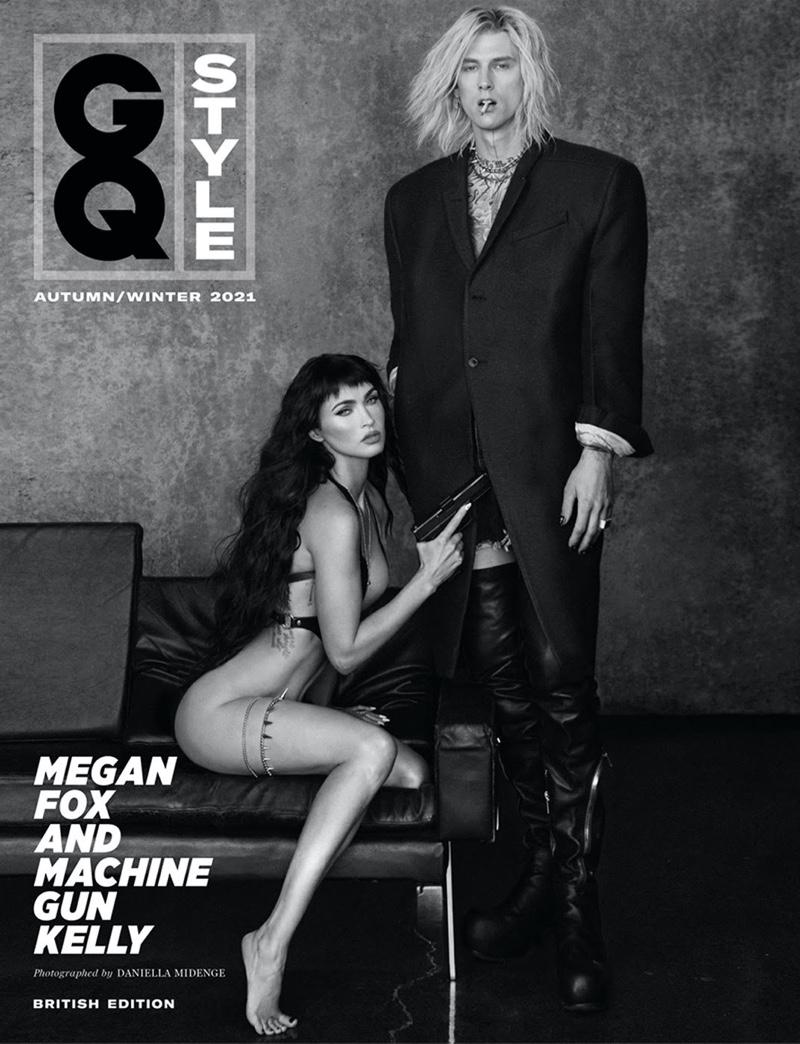 Megan Fox and Machine Gun Kelly on GQ Style UK Autumn-Winter 2021 Cover. Photo: Daniella Midenge