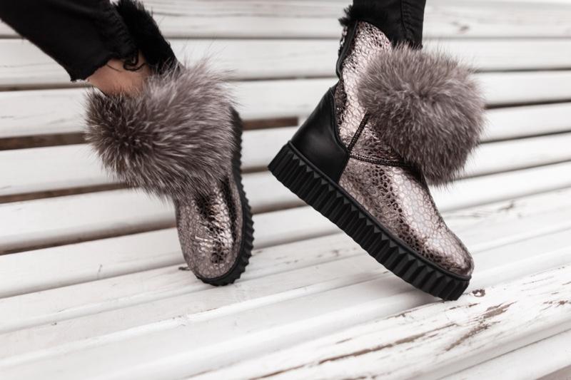 Metallic Fur Trimmed Boot