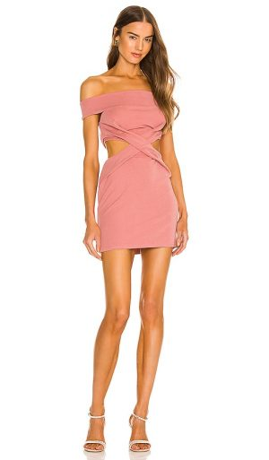 Michael Costello x REVOLVE Florence Mini Dress in Pink. - size XXS (also in L, M, S, XL, XS)