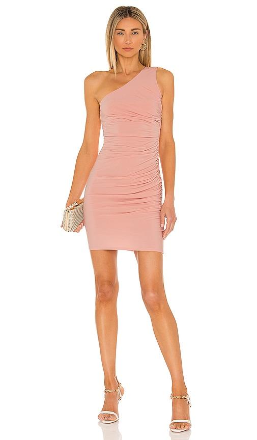 Michael Costello x REVOLVE Kimberly Mini Dress in Blush. - size M (also in L, S, XL, XS, XXS)