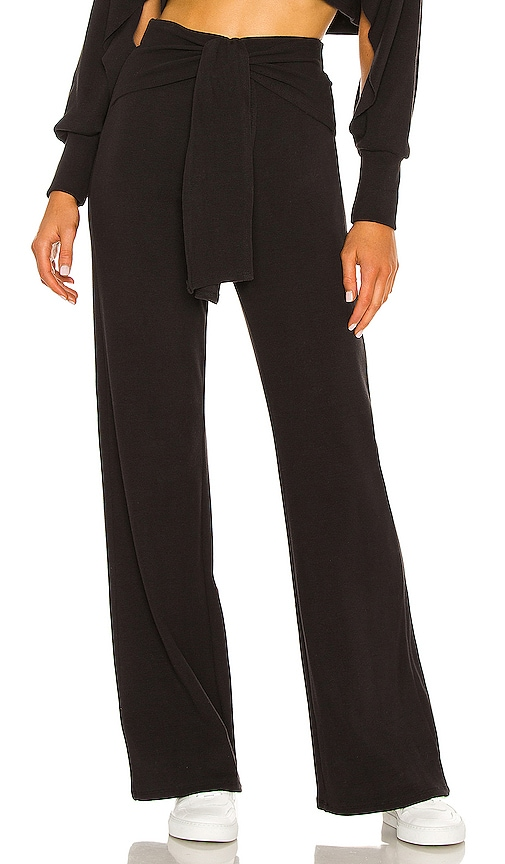 Michael Costello x REVOLVE Tie Front Pant in Black. - size XS (also in XXS)