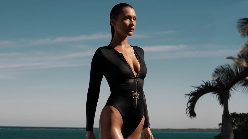 Bella Hadid stars in Michael Michael Kors x 007 collaboration campaign.