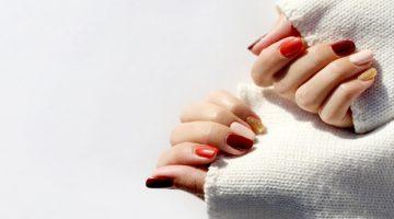 Mix Match Autumn Nails Manicure