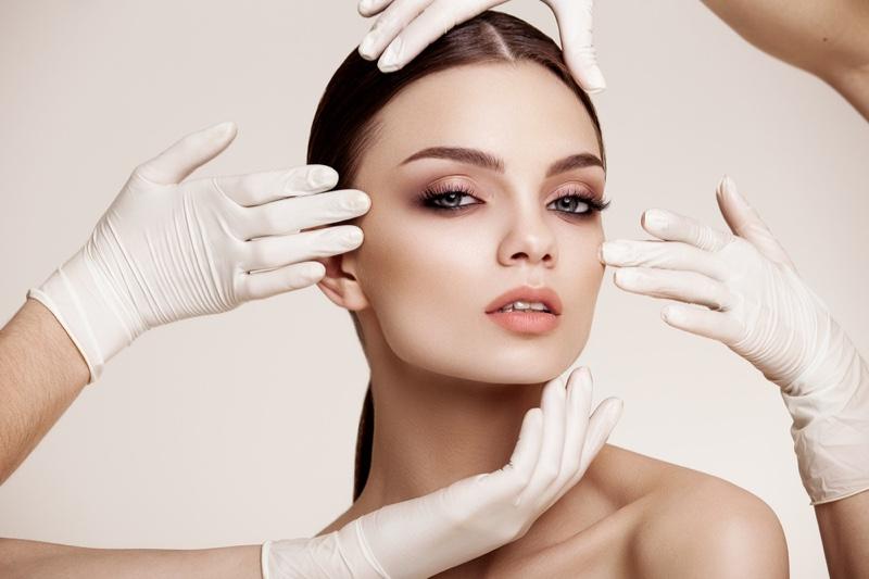 Model Beauty Plastic Surgery Concept