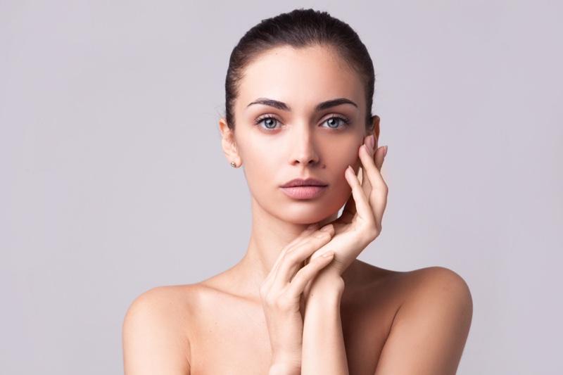 Model Clean Face Beauty Skin