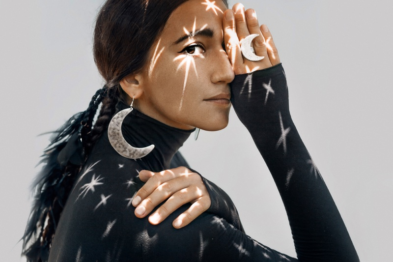 Moon Earrings Jewelry Artistic Image