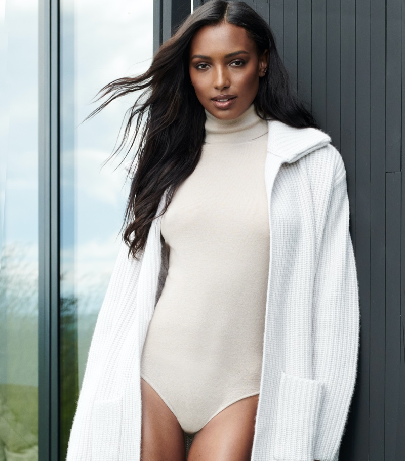 Jasmine Tookes stars in NAKEDCASHMERE NAKED in October 2021 campaign.