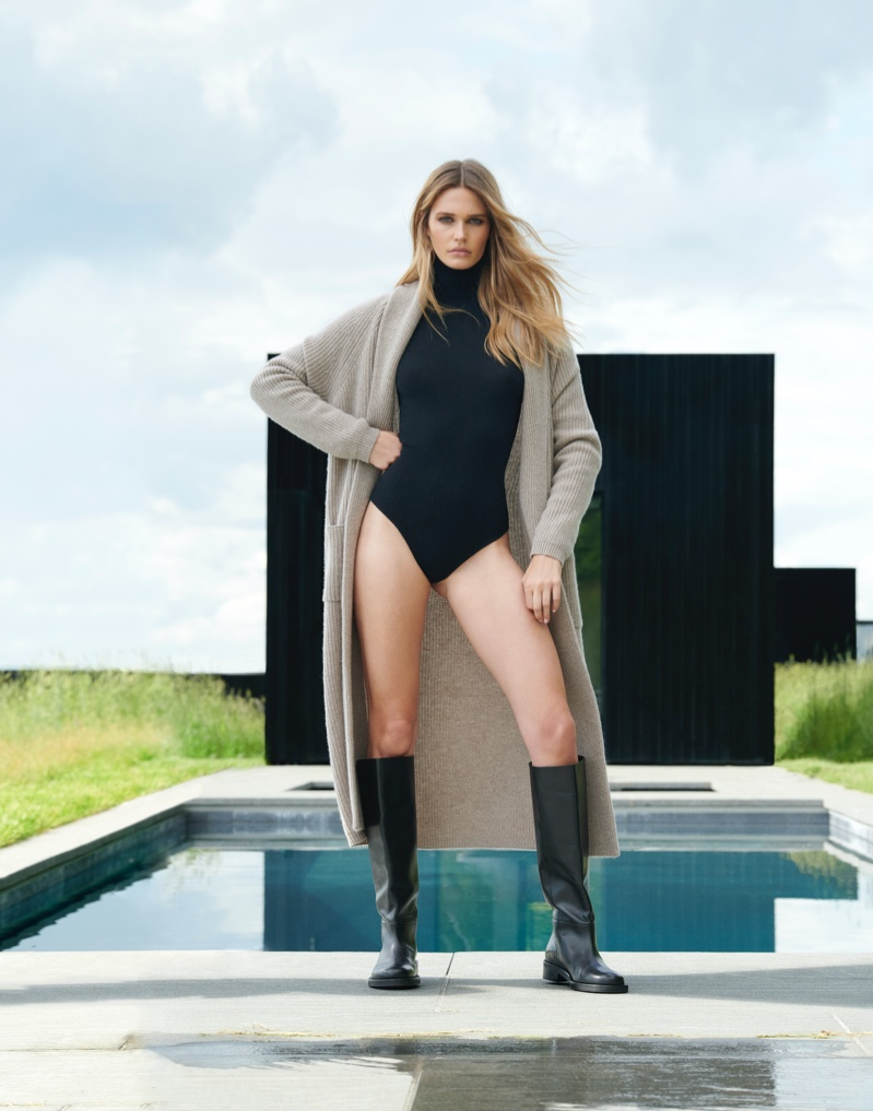 Noel Berry stars in NAKEDCASHMERE NAKED in October 2021 campaign.