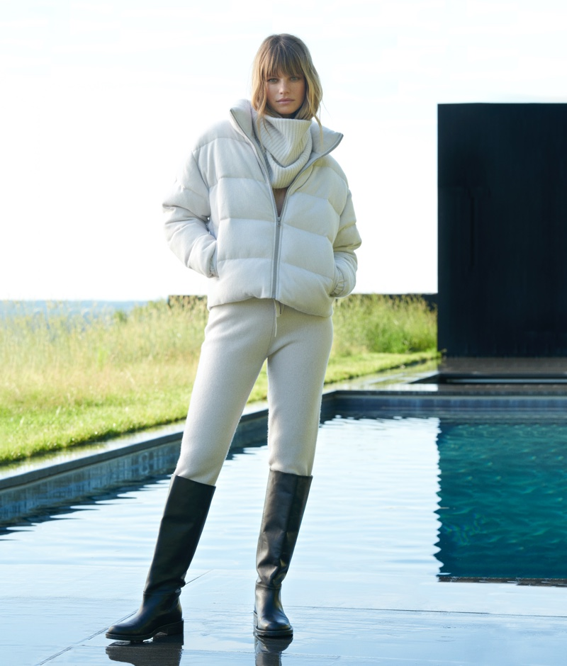 Nadine Leopold layers up in NAKEDCASHMERE NAKED in October 2021 campaign.