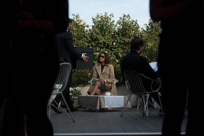 Naomie Harris on set of Michael Kors Collection x 007 campaign video. Photo courtesy Michael Kors