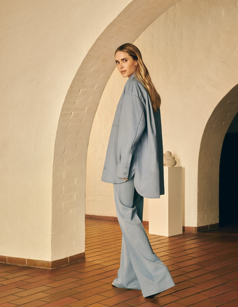 The Pernille x Mango collection is made from sustainable fabrics.