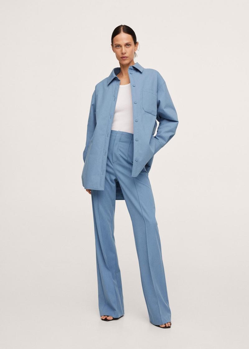 Pernille x Mango Oversized Overshirt Pockets $119.99