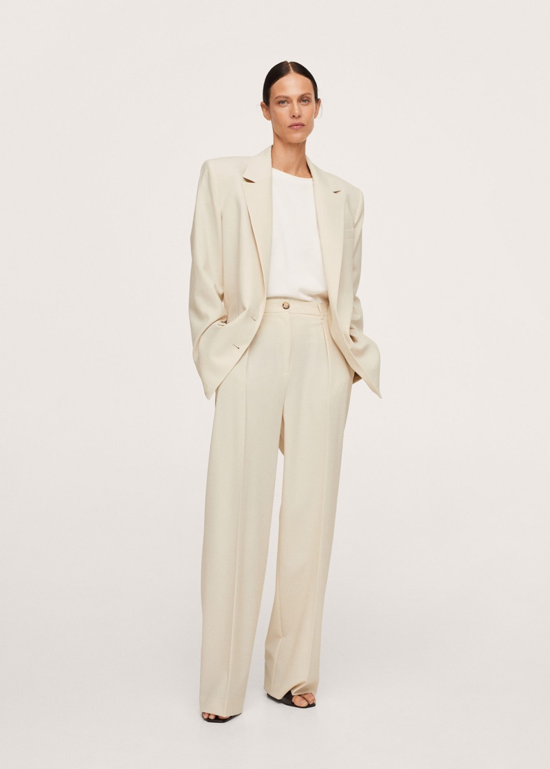 Pernille x Mango Pleat Detail Wool Pants $129.99