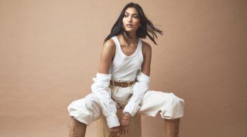 Pritika Swarup Poses in Neutral Fashions Modern Luxury