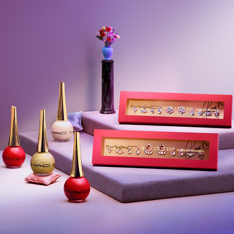 MAC Cosmetics Aute Cuture collection with nail lacquer and nail art.
