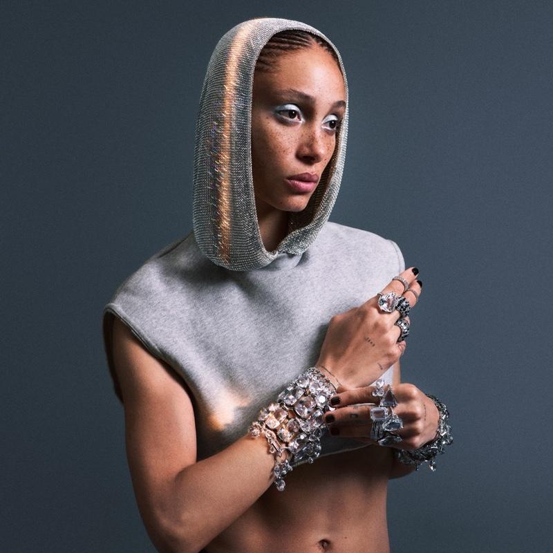 Adwoa Aboah fronts Swarovski Collection II campaign.