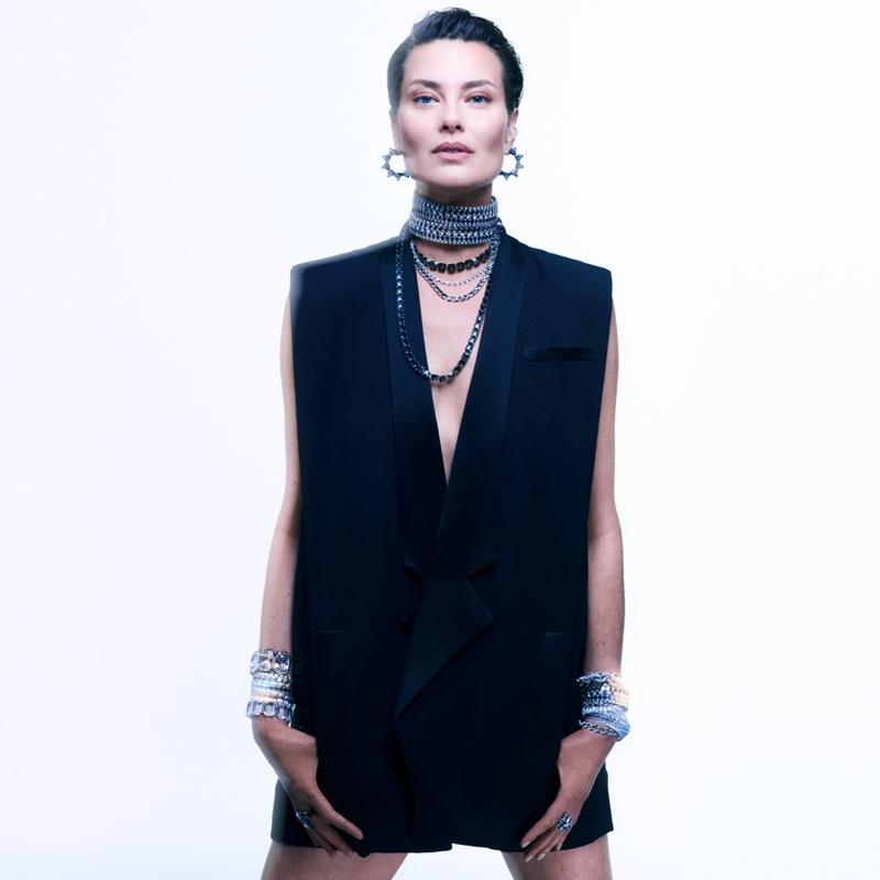 Supermodel Shalom Harlow stars in Swarovski Collection II campaign.