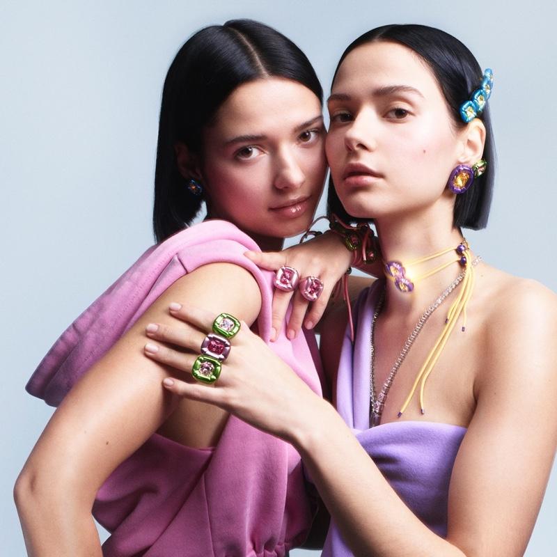 Bloom Twins star in Swarovski Dulcis jewelry campaign.