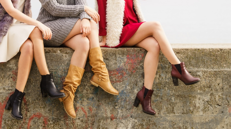 Three Models Boots Ankle Leather Styles