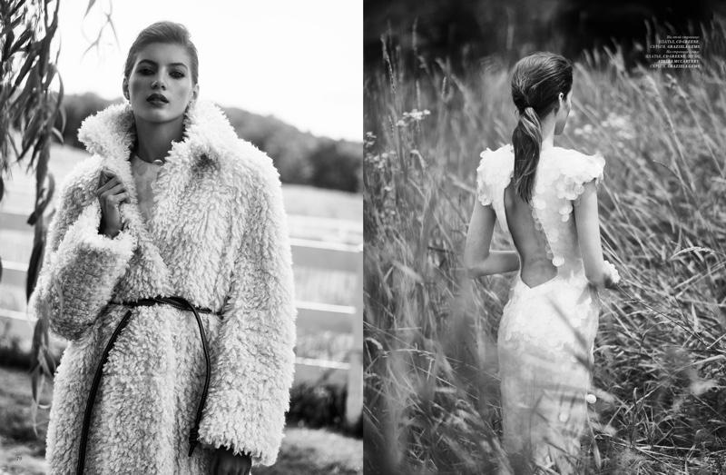 Valery Kaufman Poses in Elegant Styles for Harper's Bazaar Kazakhstan