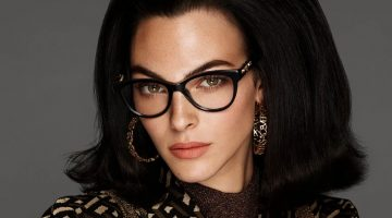 Vittoria Ceretti stars in Versace eyewear fall-winter 2021 campaign.
