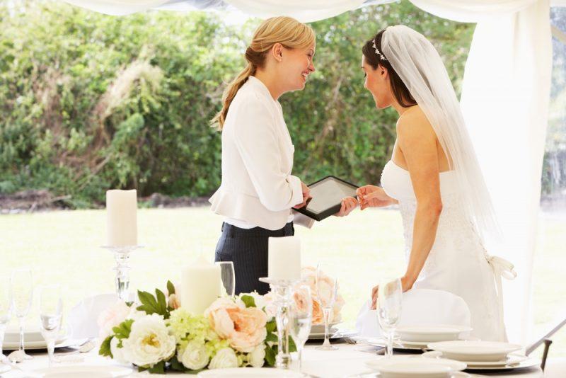 Wedding Planner and Bride