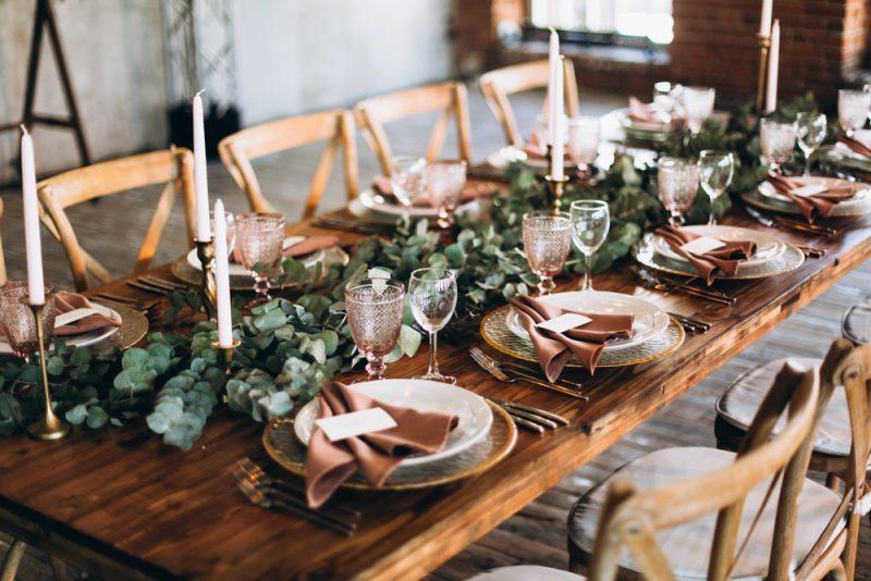 Wedding Table Setting Rustic