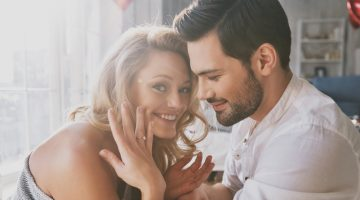 Woman Engagement Ring Couple