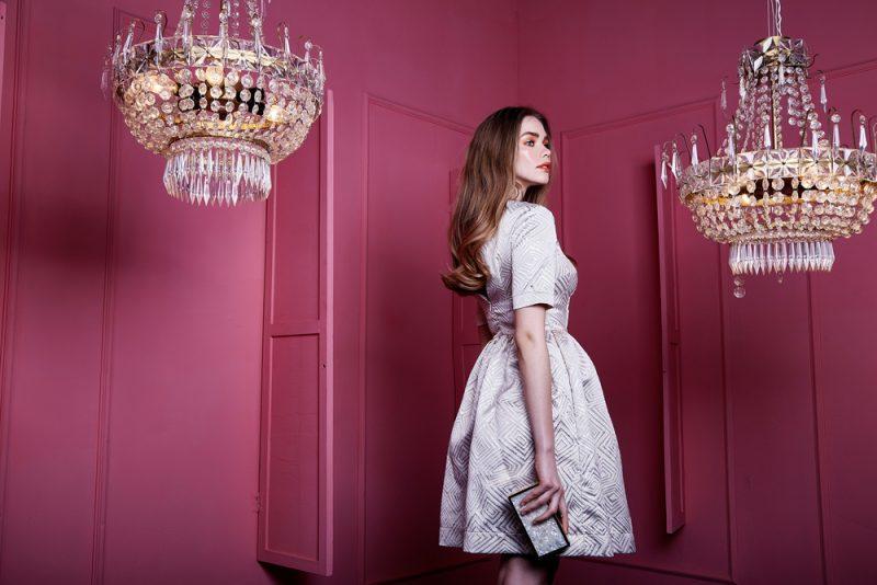 Woman with Elegant Classy Short Dress