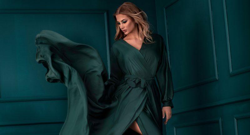 Woman with Long Elegant Dress